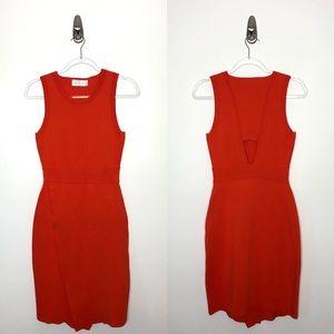 A.L.C. | Bandage Bodycon Back Cutout Midi Dress